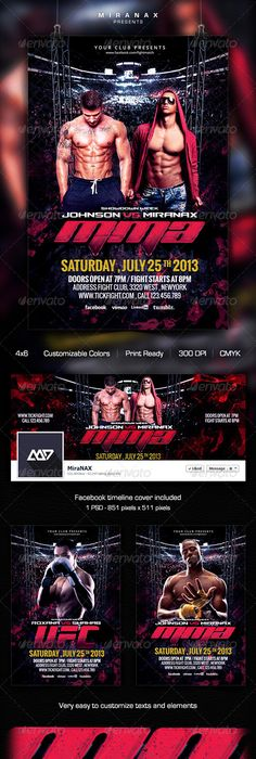 Mma  Ufc  Boxing Fight Flyer Template  Ufc Boxing Flyer