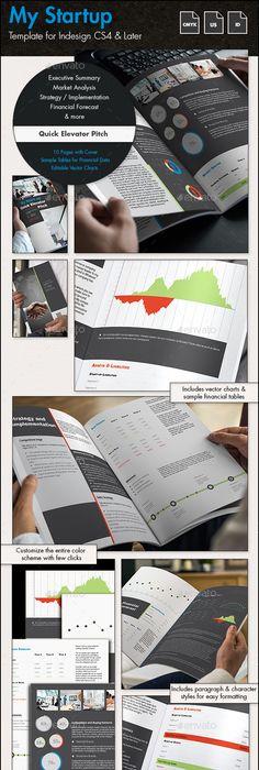 Business Plan Template - A4 Portrait  US Letter Design