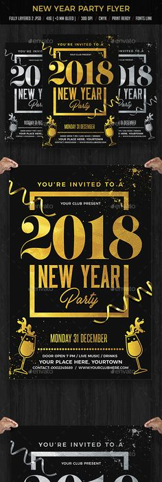 New Year Party Flyer  Party Flyer Event Flyers And Flyer Template