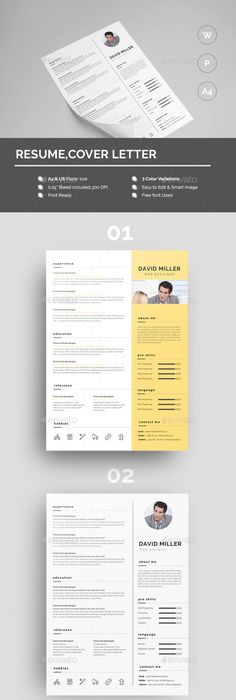 Resume Template PSD #design Download   graphicrivernet/item - different resume templates