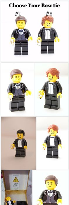 Custom Lego Minifigure Groom or Ring Bearer ~ Choose your Bowtie ...