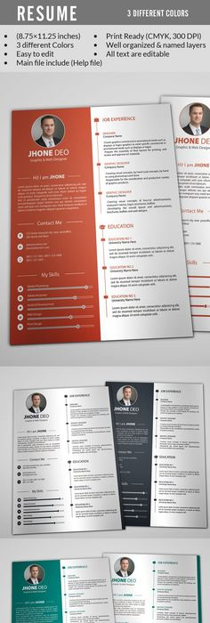 Floral 1 page resume template Template and Professional resume - different resume templates