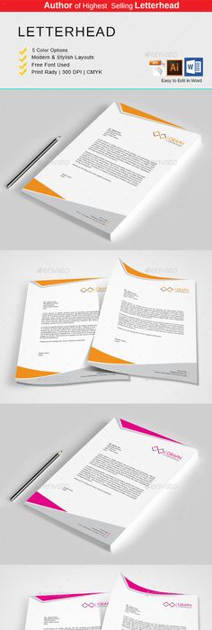 Free Microsoft Word Letterhead Templates Inspiration Letterhead  Letterhead Template Stationery Printing And Print .