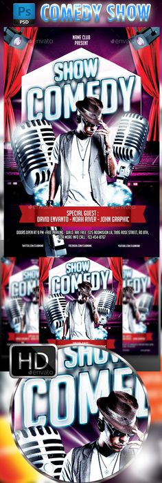 Stand Up Comedy Night Flyer Template Psd  Flyer Templates