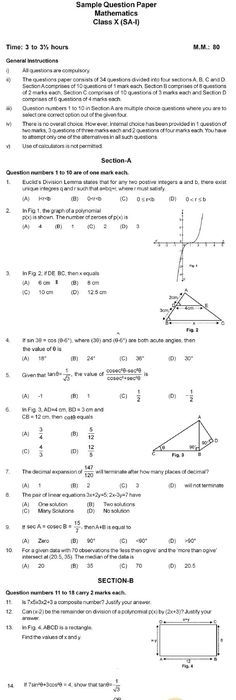 15 sample question papers biology class 11th cbse cbse board exam central board of secondary education sample question paper year 2013 2014 examination summative assessment i class ix subject maths cbse sample paper malvernweather Image collections