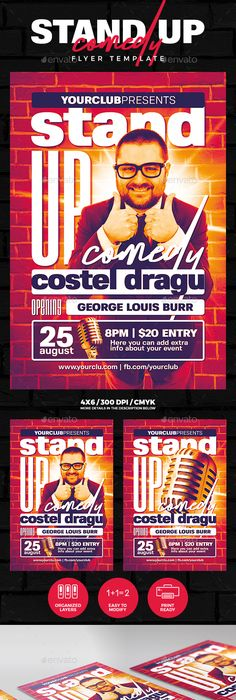 Stand Up Comedy Show Template  Photoshop Template And Flyer Template