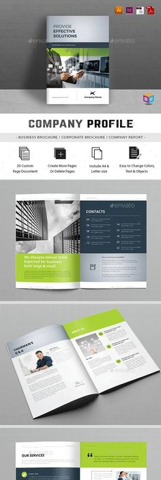 Company Profile 16 Pages 19770700 » Free Download Photoshop Vector ...