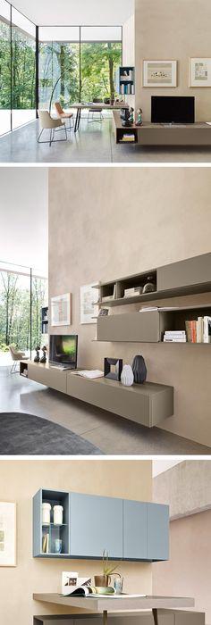 Livitalia Hat Auch Eine Wohnwand Die Um Die Ecke Geht Und Mit Einem  Schreibtisch Ergänzt Werden