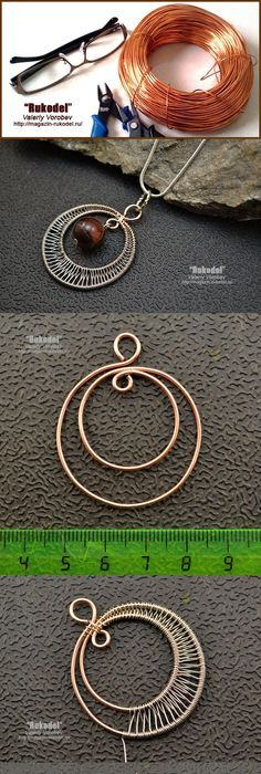 Wire wrap pendant tutorial. Click on image to see step-by-step ...