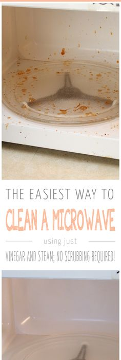 How to clean a microwave in minutes! All you need is vinegar and water,