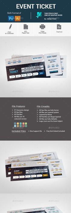 Jazz Concert Event Ticket Template | Concert ticket template, Ticket ...