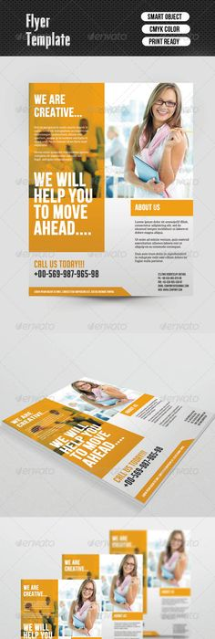 Advertising Brochure Template Flatex  Modern Corporate Flyer Templates  Flyer Template Template .