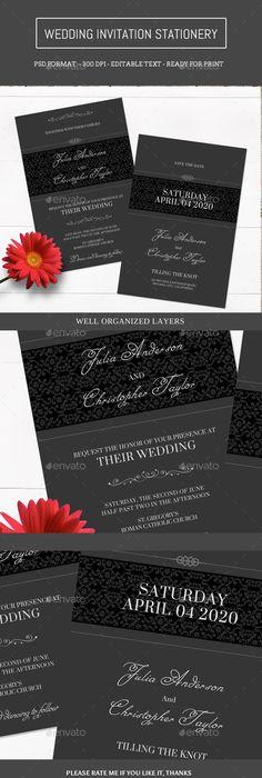 Free Wedding Invitation Card Templates Wedding Invitation  Flower Invitation Invitation Suite And Place Card