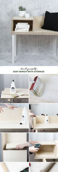 So einfach lässt sich eine DIY Sitzbank selber bauen Handmade