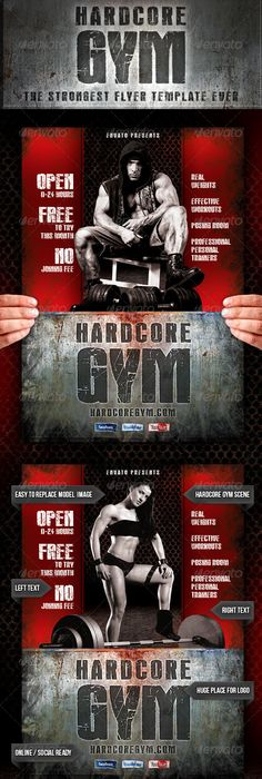 Gym  Fitness Flyer  Gym Fitness Flyer Template And Crossfit