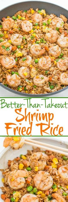 Better than takeout chicken fried rice recipe fried rice rice easy better than takeout shrimp fried rice one skillet ready in 20 minutes and youll never takeout again homemade tastes way better tons more flavor ccuart Choice Image