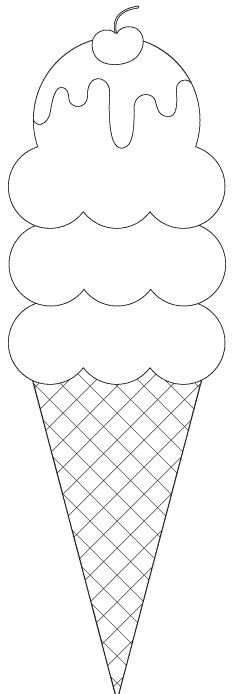 Food Crafts - Print your Ice Cream Cone Template at AllKidsNetwork ...