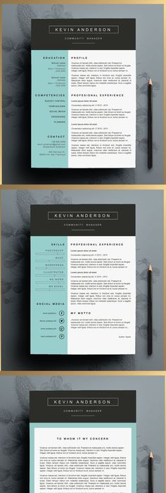 Love This Resume Design The Katie Lyn Signature Resume Template