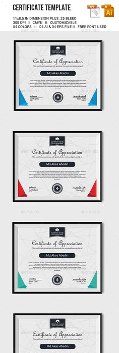 Modern Ms Word Certificate Template  Certificate Template And Modern