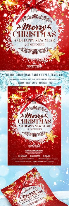 Christmas Party Flyer Template Party Flyer Flyer Template And