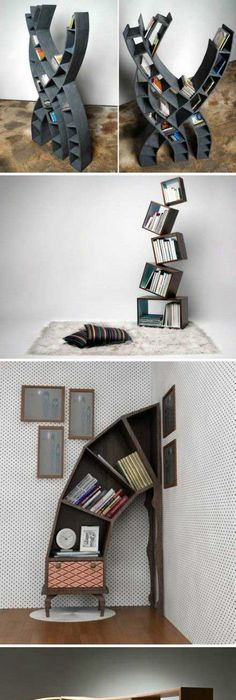 Unique DIY Book Shelves Ideas   All Natural U0026 Good