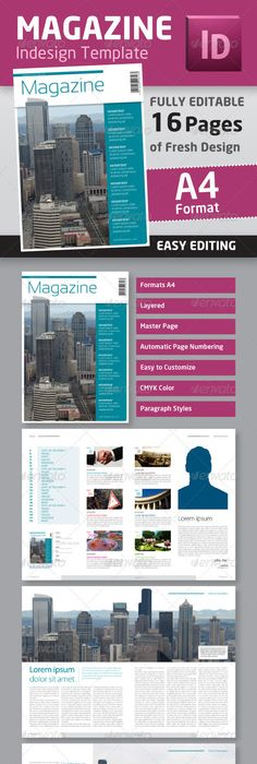 This Automatic Magazine Table Of Contents Is An Indesign File That