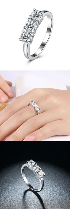 Click To R946 Whole Fashion Wedding Band Engagement Rings For Women White Gold Color Jewelry Cz Crystal Zircon Crown Affiliate