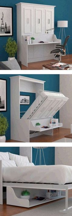 murphy bed office desk. DIY Murphy Bed - Made To Look Like Armoire. Guest Room/office?:   A Pinterest Diy Bed, Room Office And Desk