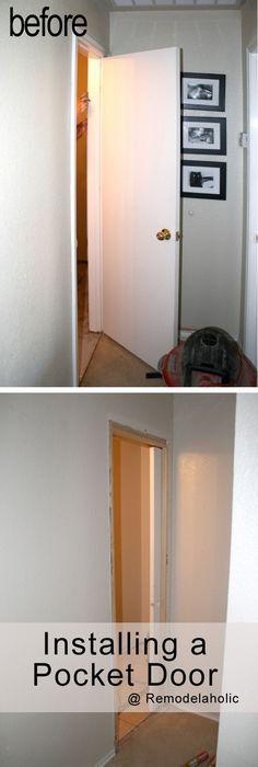 How to destroy your fears install a pocket door pocket - Installing sliding doors interior ...