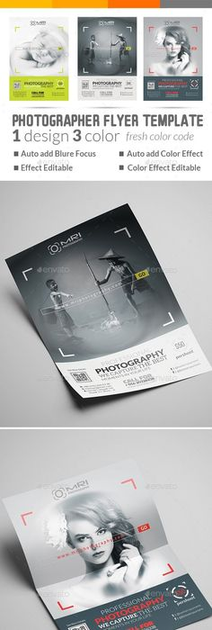 Photography Flyer Template | Photography flyer, Flyer template and ...