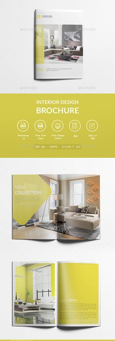 Interior Design Brochure  Psd Template  Brochure Template  Design