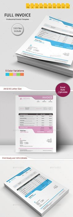 Invoice  Template Web Design Tutorials And Logos