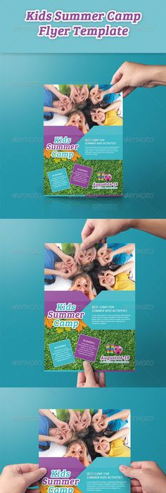 Kids Summer Camp Flyers  Template Camping And Summer