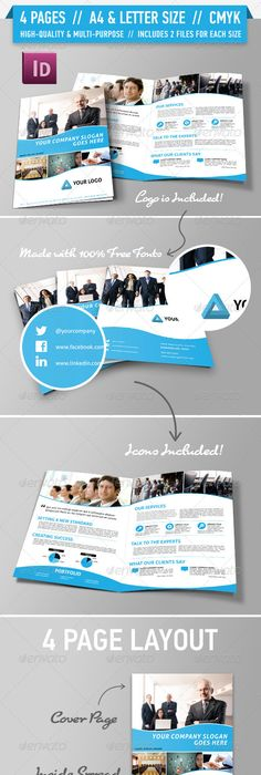 Logistics Services Bi Fold Brochure Template Brochuredesign