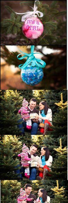 Gender Reveal Photo Christmas Ornament Photo Christmas