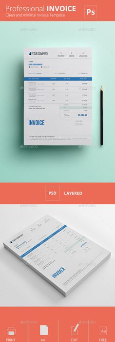 Invoice Template Invoice Design Receipt Ms Word Invoice