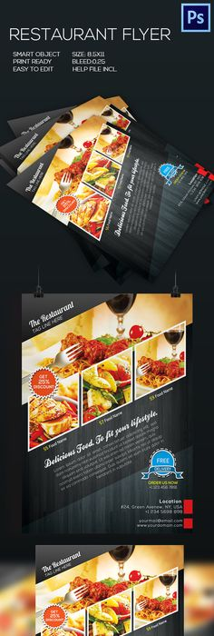 Minimal Restaurant  Food Flyer Menu Template Psd Vector Ai