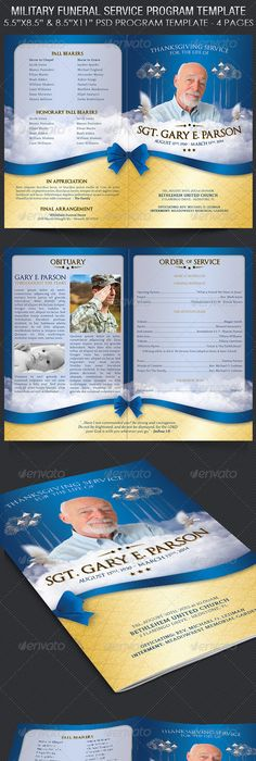 Page Graduated Outdoor  Program  Funeral Cloud And Template