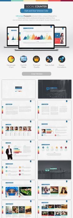 Animated powerpoint presentation business powerpoint templates social counter powerpoint presentation business powerpoint templates toneelgroepblik Choice Image