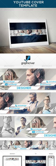 6 Elegant Youtube Banners Template PSD Download here