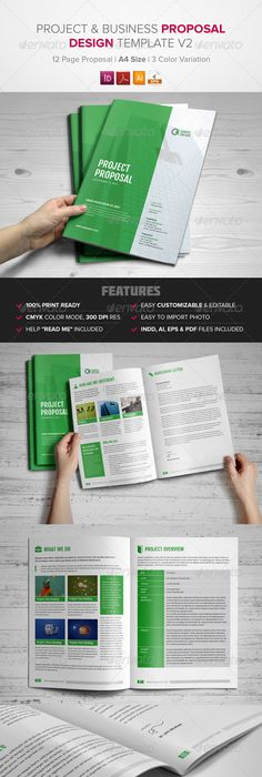 Project Proposal Indesign Template V  Project Proposal Indesign