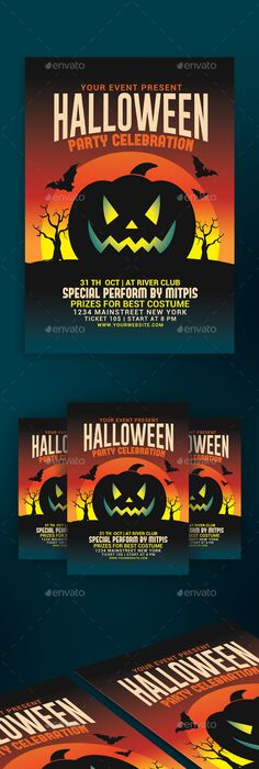Halloween Spooky Party Flyer  Party Flyer Flyer Template And