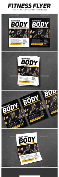 Fitness Flyer  Fonts Brochures And Flyer Printing