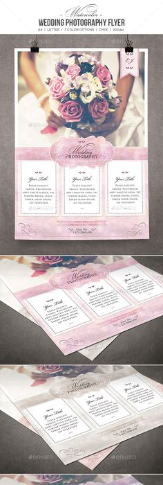 Wedding Photography Rack Card Card Templates Template And Flyer