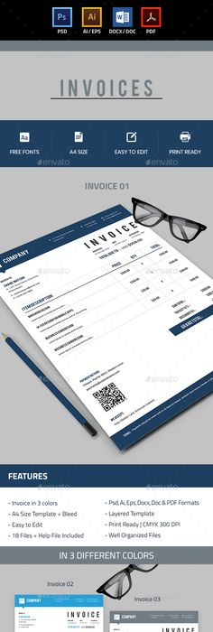 Invoice Design Inspiration Best Examples And Practices Ui Design - Make your own invoice free eyeglasses online store