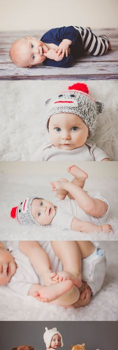 I might steal the bear idea for 6 month photo shoot 6 month photos