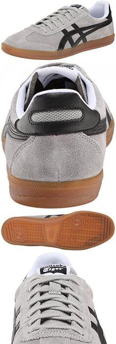 Onitsuka Tiger Tokuten Classic Soccer Shoe, Light Grey/Black, 8 M US