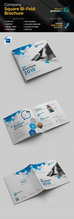 Modern Geometric Trifold Brochure Design - Brochures Print Template