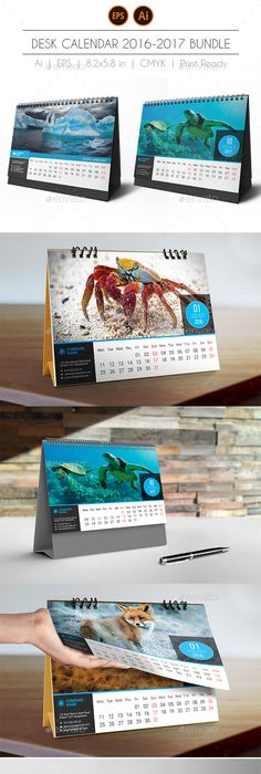 Creative Desk Calendar 2018 V08 Desk Calendars Desks And Template