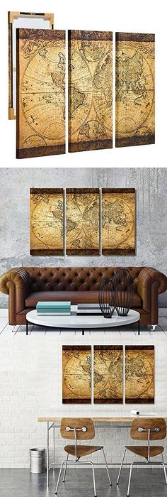 Italy or World map in office- perfect style of what Iu0027m looking for - new world map canvas picture